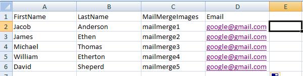 QR code mail merge