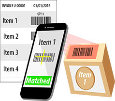 Compare list of barcodes for validation