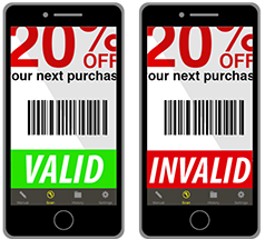 Coupon scanner app for retailers to redeem their offers