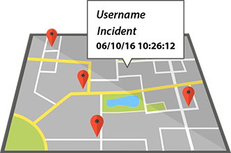 Document incidents with GPS location and timestamps