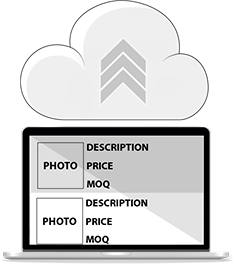 Upload database with descriptions, prices and photos