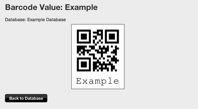 Barcode value example