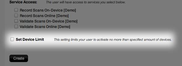 Set device limit