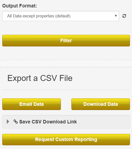 Export a CSV screenshot