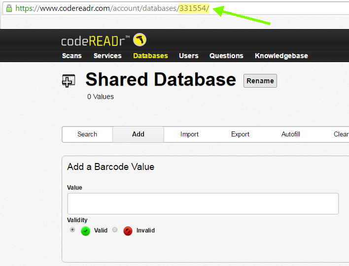 Shared Database