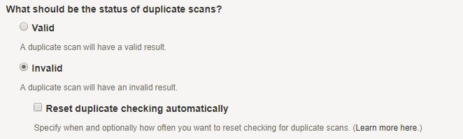 Duplicate Invalid