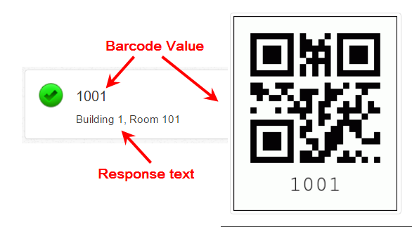 value and text and QR