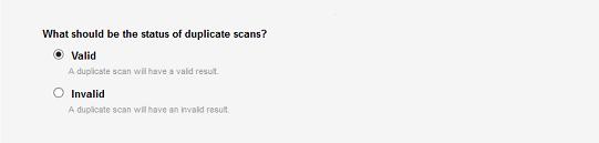 Set duplicate scans to valid