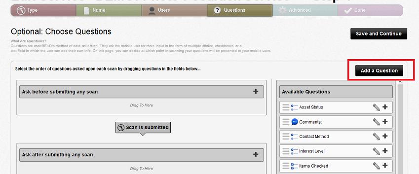 Coding custom questions