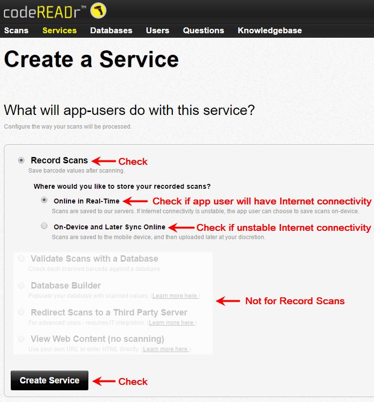 create service