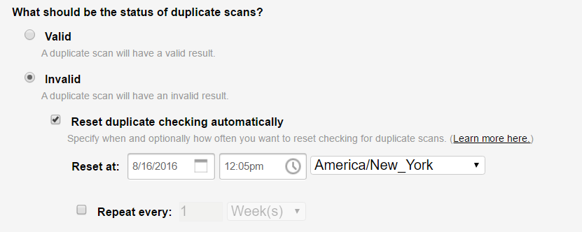 duplicate_checking