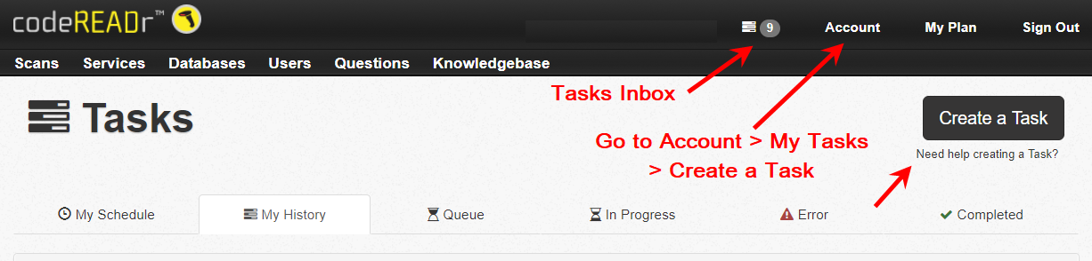 tasks inbox