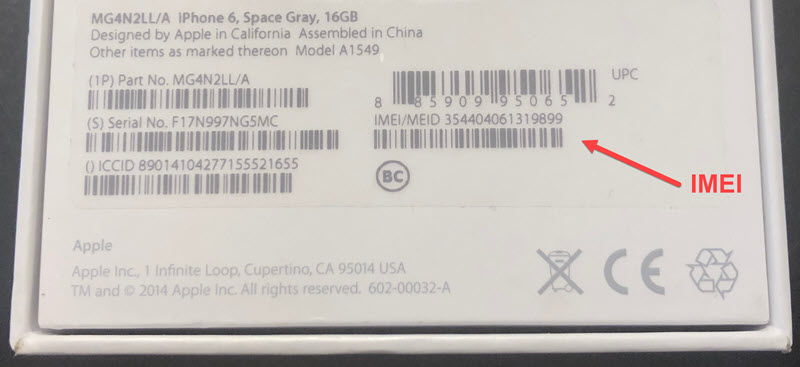 iphone box barcodes