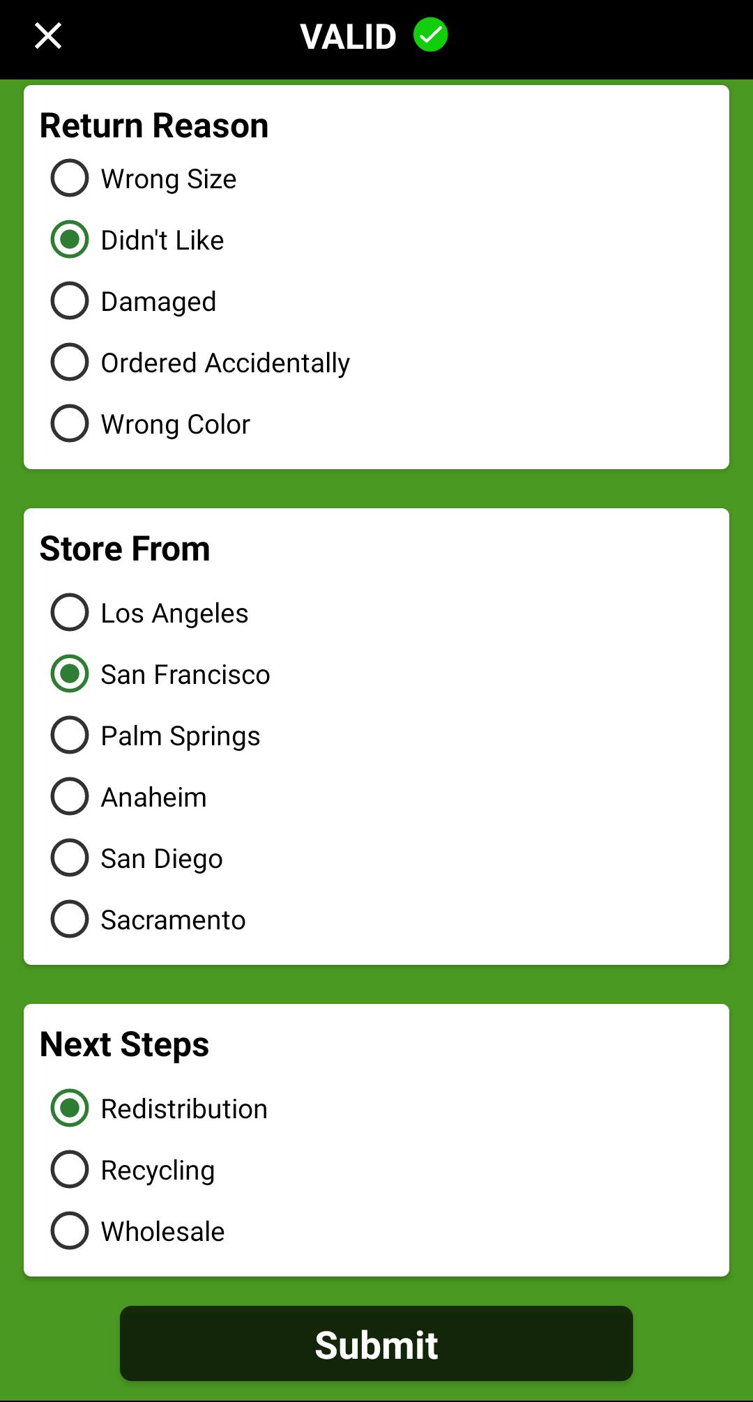Returning an Item Via Barcode