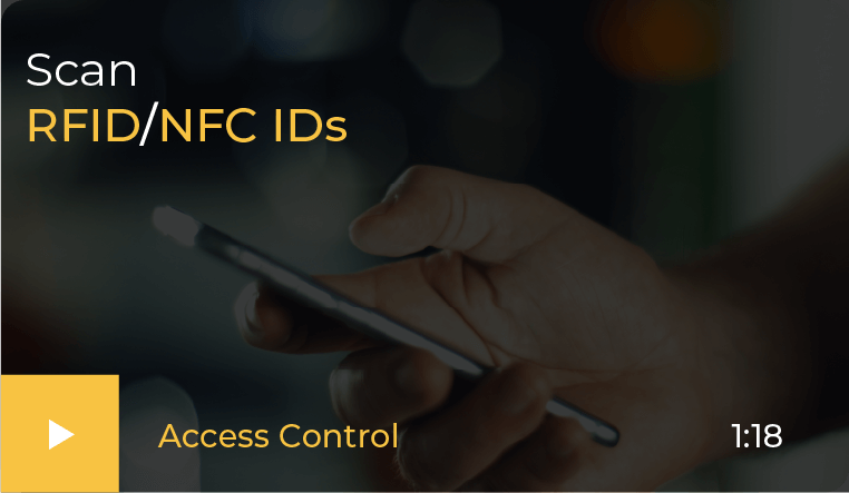 scan rfid and nfc IDs