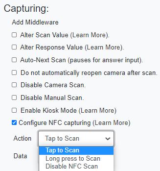 smartphone nfc data capture action