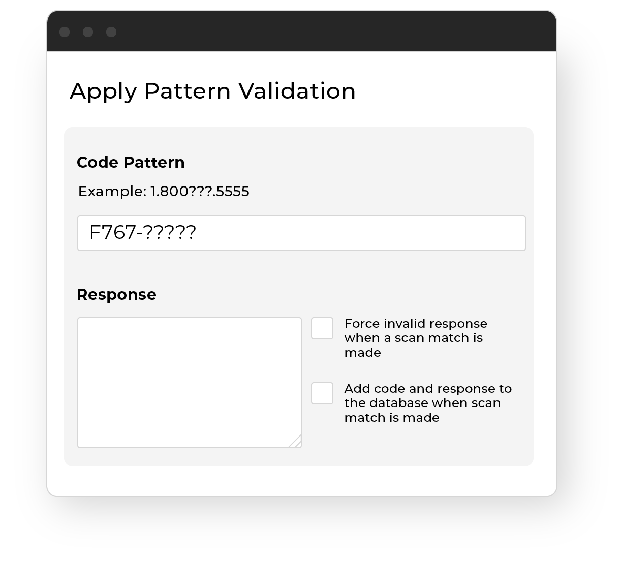 Apply Pattern Validation