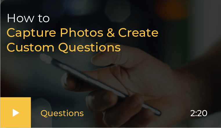 how to Capture photo and create questions